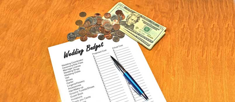 Getting married on a budget