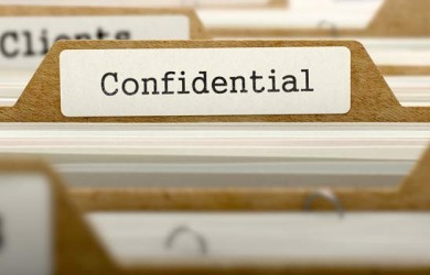 Confidential documents to get a marriage license